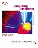 Cover image for Computing essentials 2001-2002 : complete