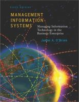 Cover image for Management information systems : managing information technology in the business enterprise
