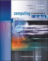 Cover image for Computing essentials 2005