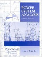 Cover image for Power systems analysis