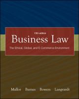 Cover image for Business law :  the ethical, global, and e-commerce environment