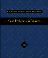 Cover image for Excel templates : to accompany case problems in finance