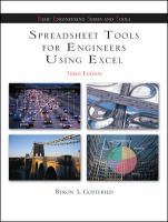 Cover image for Spreadsheet tools for engineers using Excel