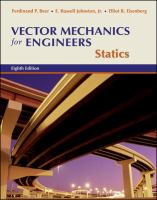 Cover image for Vector mechanics for engineers statics