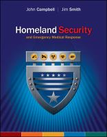 Cover image for Homeland security and emergency medical response