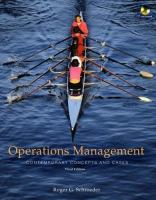 Cover image for Operations management contemporary concepts and cases