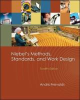 Cover image for Niebel's methods, standards & work design