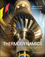 Cover image for Thermodynamics : an engineering approach