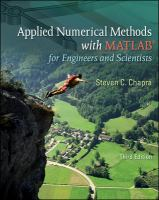 Cover image for Applied numerical methods with MATLAB for engineers and scientists