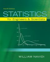 Cover image for Statistics for engineers and scientists