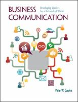 Cover image for Business communication : developing leaders for a networked world