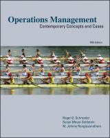 Cover image for Operations management : contemporary concepts and cases