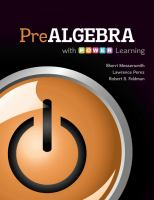 Cover image for Prealgebra with P.O.W.E.R. learning