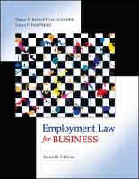 Cover image for Employment law for business