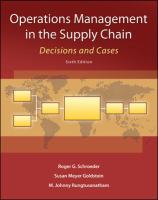 Cover image for Operations management in the supply chain: decisions and cases