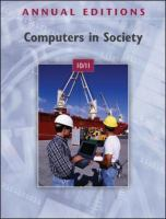Cover image for Computers in society 10/11