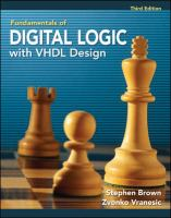 Cover image for Fundamentals of digital logic with VHDL design