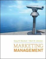 Cover image for Marketing management