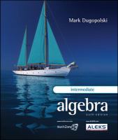 Cover image for Intermediate algebra