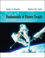 Cover image for Fundamentals of electric circuits