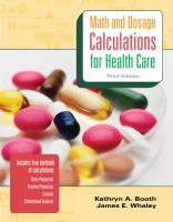 Cover image for Math and dosage calculations for health care