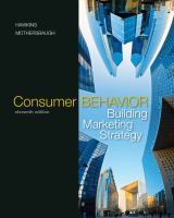 Cover image for Consumer behavior building marketing strategy