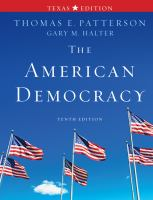 Cover image for The American democracy