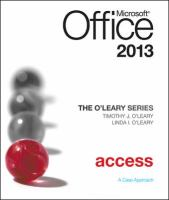 Cover image for Microsoft Access 2013 : a case approach