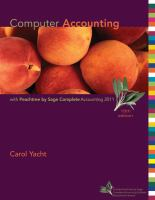 Cover image for Computer accounting with Peachtree by Sage complete accounting 2011