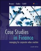 Cover image for Case studies in finance : managing for corporate value creation