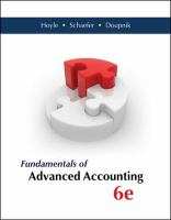 Cover image for Fundamentals of advanced accounting