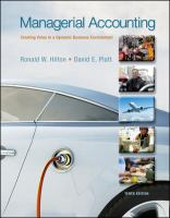 Cover image for Managerial accounting : creating value in a dynamic business environment