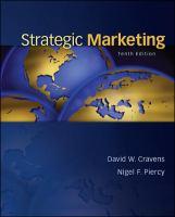 Cover image for Strategic marketing