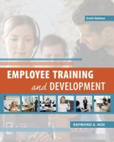 Cover image for Employee training and development