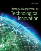 Cover image for Strategic management of technological innovation