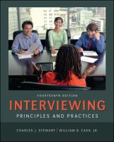 Cover image for Interviewing : principles and practices
