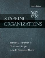 Cover image for Staffing organizations