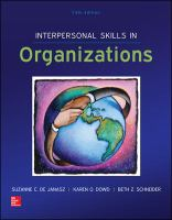 Cover image for Interpersonal skills in organizations