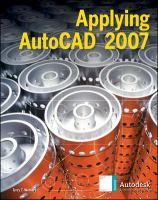 Cover image for Applying AutoCAD� 2007