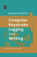 Cover image for Computer keystroke logging and writing : methods and applications