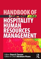 Cover image for Handbook of hospitality human resources management