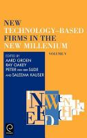 Cover image for High Technology Small Firms Conference on new technology-based firms in the new millennium, 2004, Enschede, Netherlands