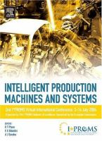Cover image for Intelligent production machines and systems : 2nd I*PROMS Virtual Conference, 3-14 July 2006