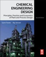 Cover image for Chemical engineering design : principles, practice, and economics of plant and process design