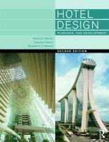 Cover image for Hotel design, planning and development