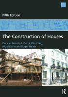 Cover image for The construction of houses