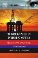Cover image for Turbulence in porous media : modeling and applications