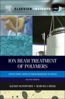 Cover image for Ion beam treatment of polymers : application aspects from medicine to space