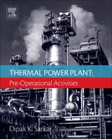 Cover image for Thermal Power Plant : Pre-Operational Activities