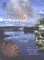 Cover image for Environmental monitoring and characterization